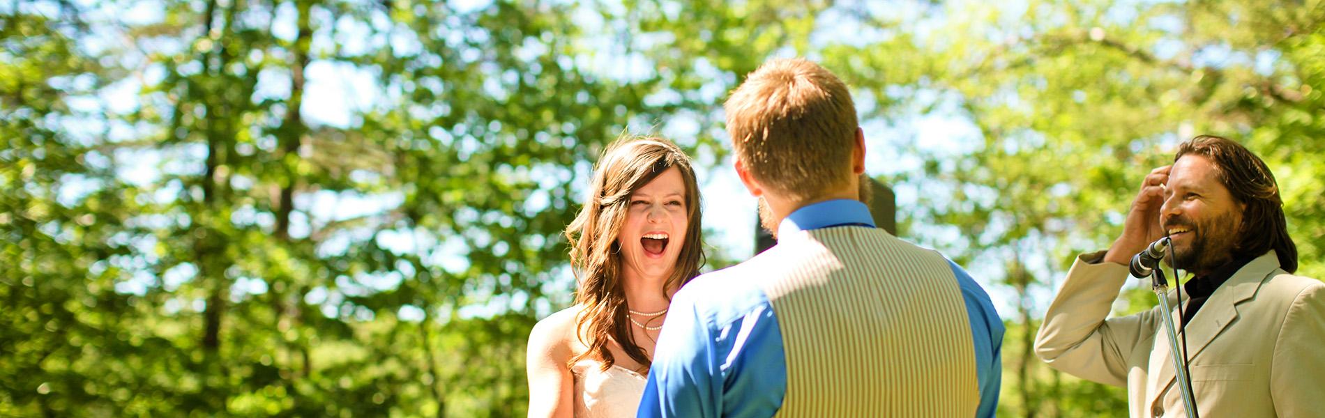 Wedding Ceremony at Cloudland Canyon