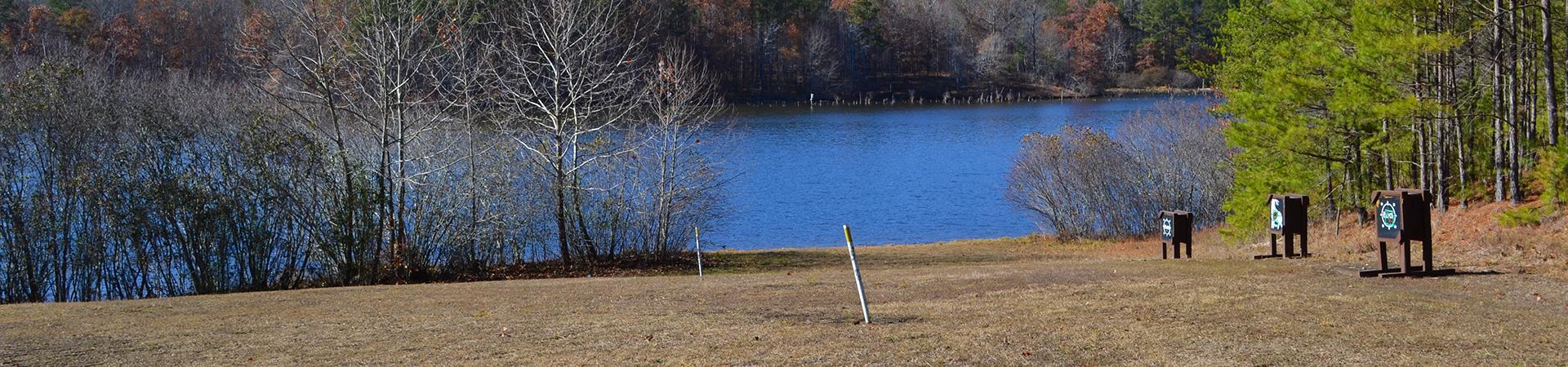 static targets at archery range